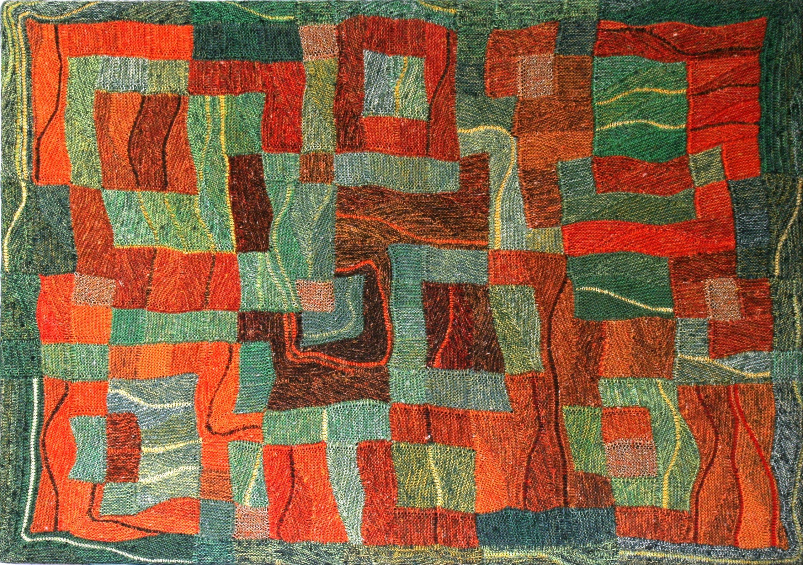 """Gabriele Tippel - Hier sieht man mein Wandbild """"Farben von Gifhorn Süd"""" in KlugeStrickArt"""