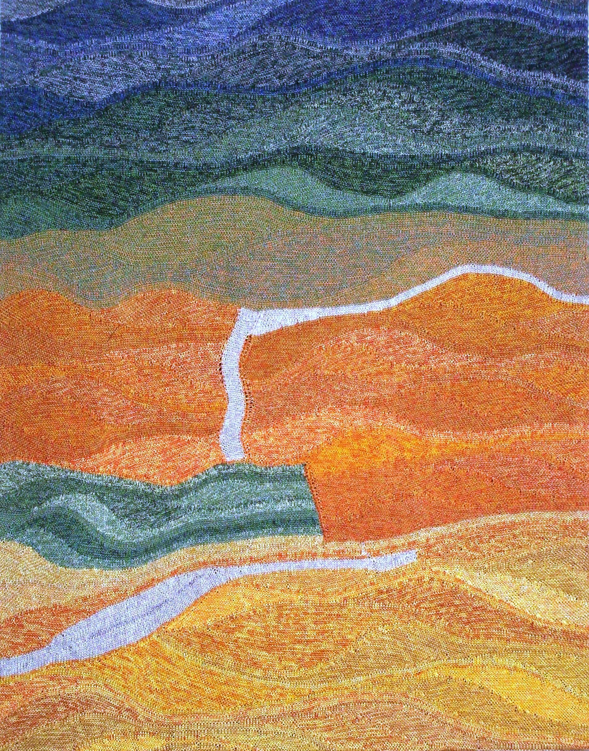 "Gabriele Tippel - Hier sieht man mein Wandbild ""Frühling in Südafrika"" in KlugeStrickArt"