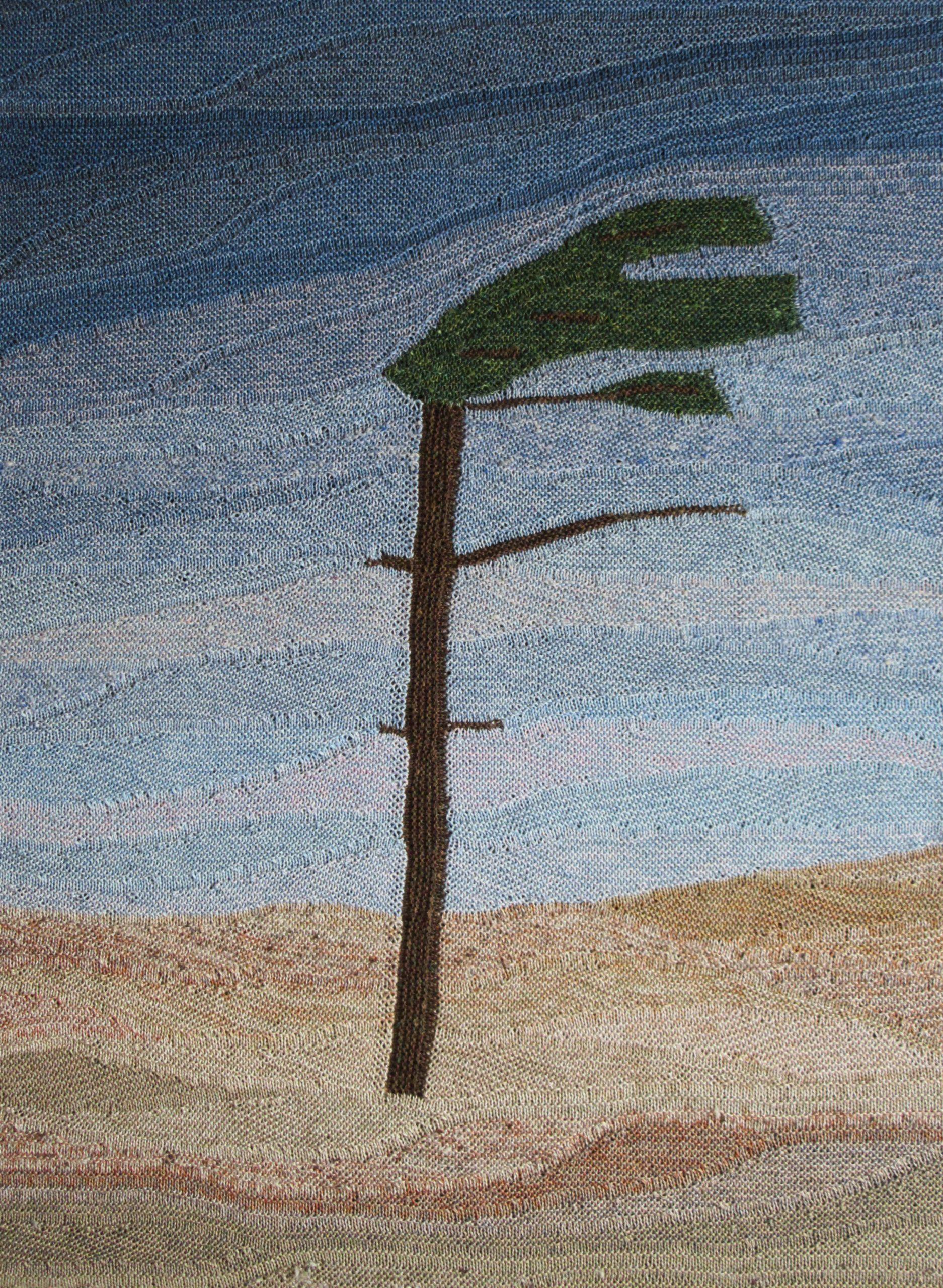"Gabriele Tippel - Hier sieht man ""mein Windflüchter"" Wandbild in KlugeStrickArt"