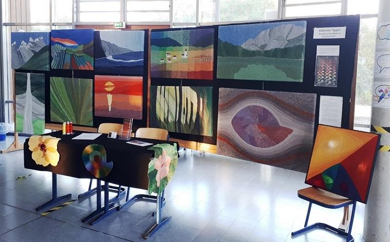 Gabriele Tippel - Hier sieht man meinen Stand bei der Ausstellung LeifArt 2020